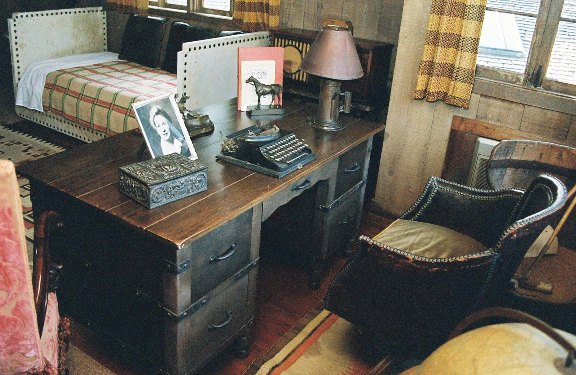 Will  Rogers's desk, upstairs in the Ranch House. Photo by Marc Holmes.