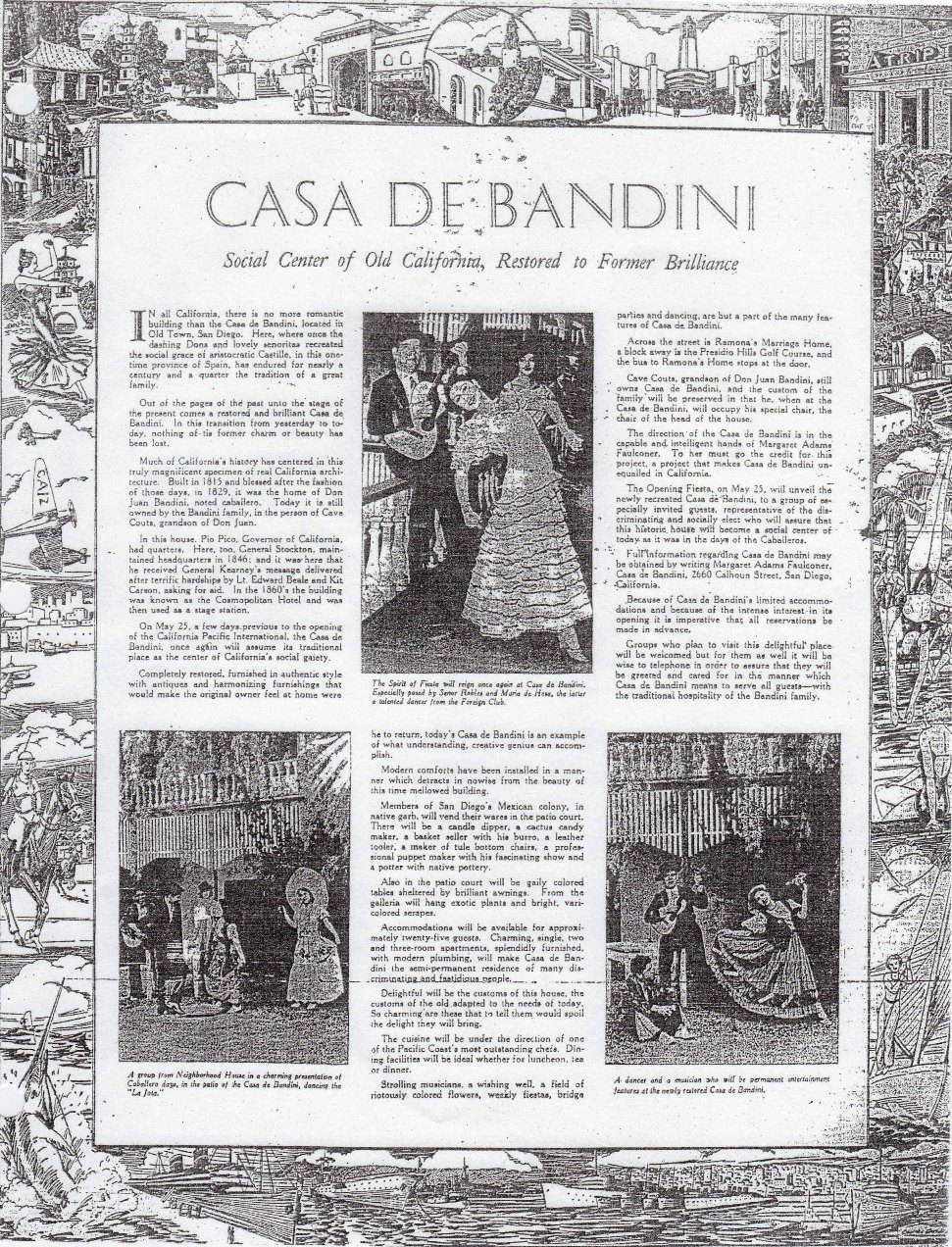 Cover 1935 -- 04-24 - casa de bandini - social center