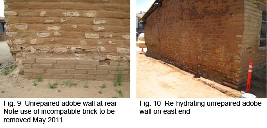Rehydrating unrepaired wall