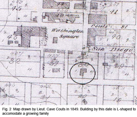 Lieut. Cave Couts Map of Old Town