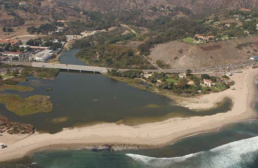 Aerial View of Adamson House off of the Pacific Coast Highway.
