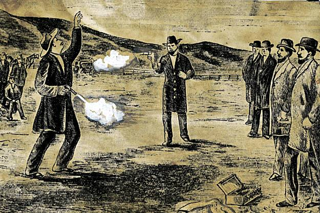 Depiction of the Duel between David Broderick and David Terry