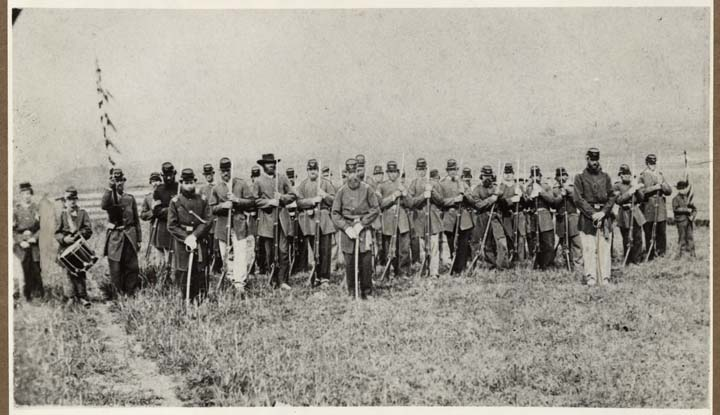 Company of Union soldiers formed in Hayward, 1861
