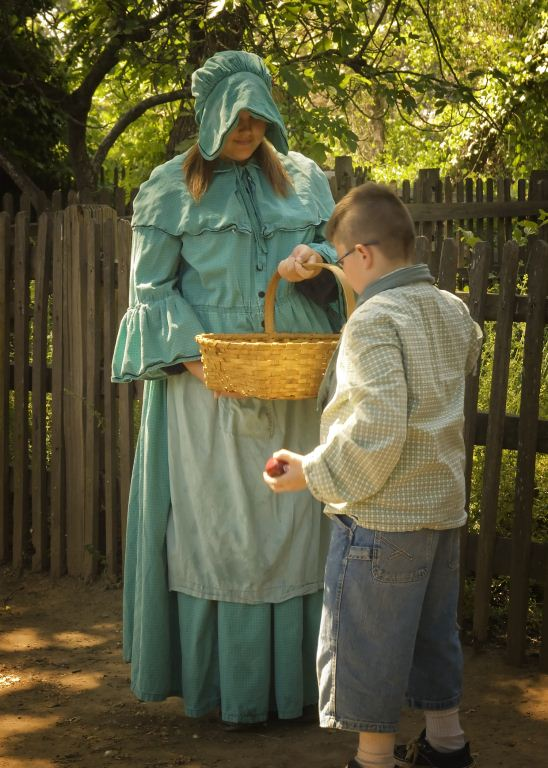 High school student as 1850s living history docent