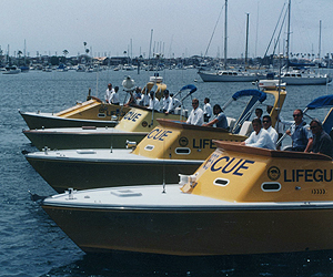 Rescue patrol boats.